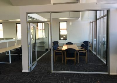 office furniture fit out glass wall