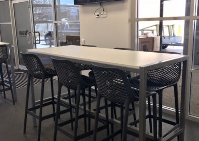 lunchroom table & stools - office furniture perth