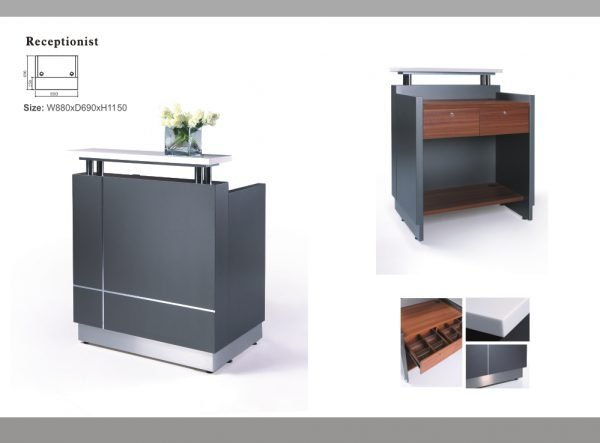 receptionist reception counter desk