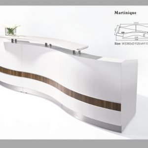 Martinique reception desk counter
