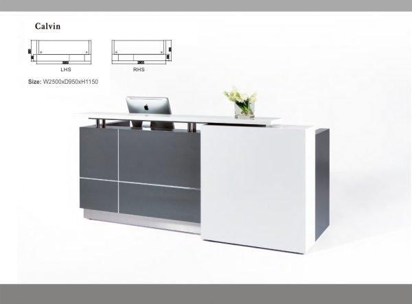 Calvin reception desk counter