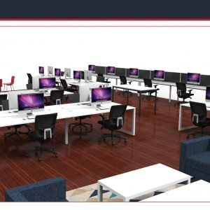 Infinity open plan workstations