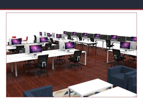 Infinity open plan workstations