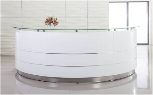 Stocked Reception Desks