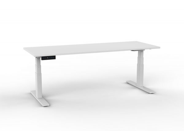 ascend-sit stand desk-white