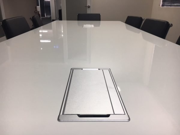 in desk power box boardroom table