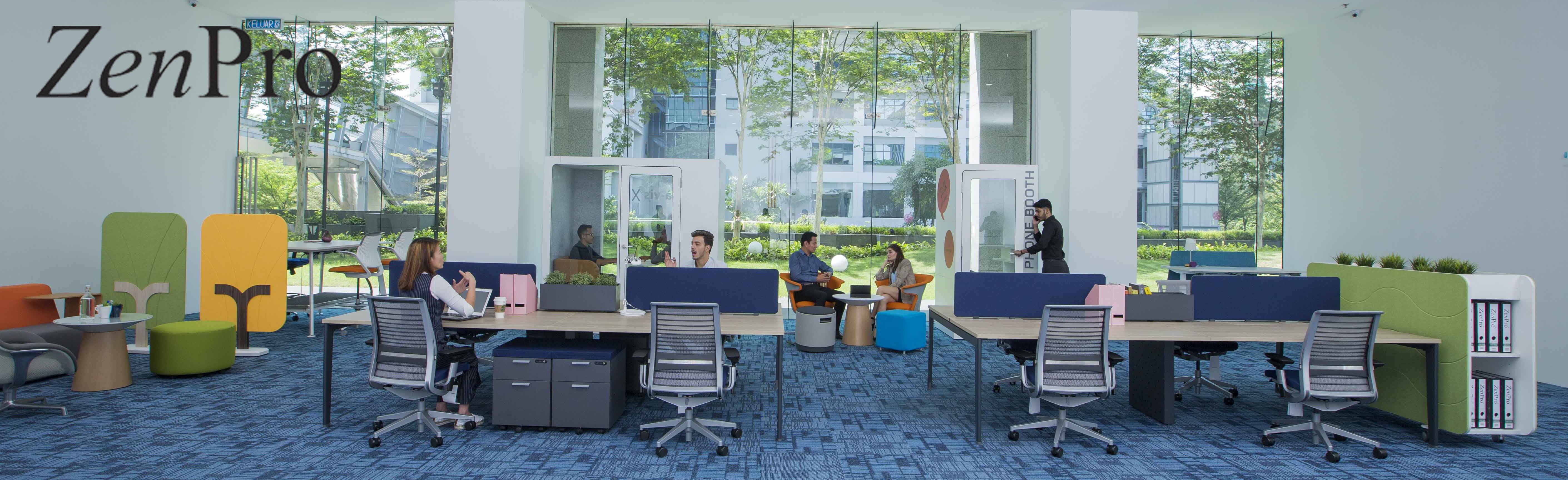 SQS open plan desk furniture
