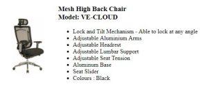 cloud executive chair